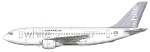 White Airbus A310