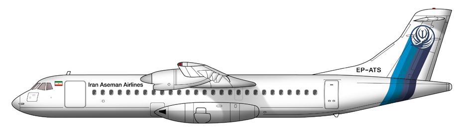 Resultado de imagen para Aseman Airlines ATR 72 png